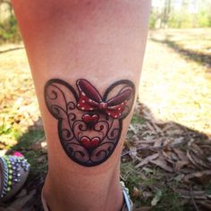 "minnie-mickey-disney: ""Two years ago today I got my first (but not last) Disney tattoo! """