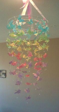 Monarch Butterfly Chandelier Mobile Easter Sundae by Belles Nursery Decor