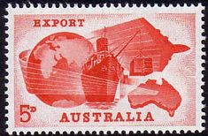 Australia 1963 353 Exports Fine Mint       SG 353 Scott 356    Condition Fine MNH       Only one post charge applied on multipule purchases