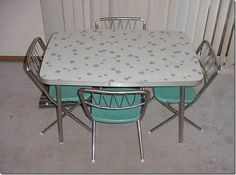 mid-century formica kitchen table and chair sets for sale - Google Search