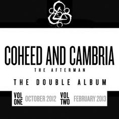 """Modern progressive rock band Coheed and Cambria's upcoming album will be a double concept """"The Afterman"""", released in two separate full-length volumes"""