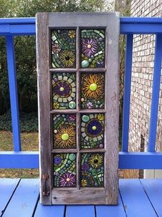 Stained Glass Mosaic Windows see more at this site Mosaic Crafts, Mosaic Projects, Stained Glass Projects, Stained Glass Art, Stained Glass Windows, Mosaic Art, Mosaic Tiles, Fused Glass, Window Glass