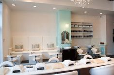 Check out these comfy and chic pedicure and nail stations!