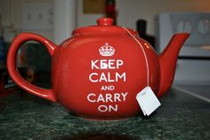 keep calm and carry on teapot; never thought it be so hard to find one of those...
