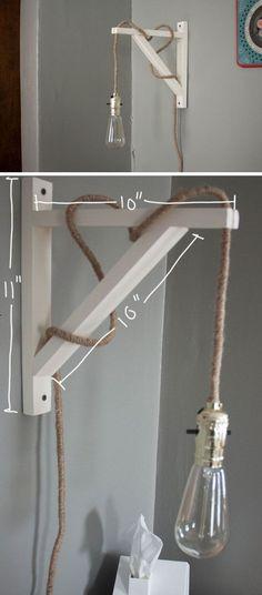 Læesværelse?? Industrial Lamp | Click Pic for 26 DIY Living Room Decor on a Budget | DIY Living Room Decorating Ideas