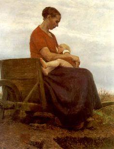 "Fritz Mackensen (1866-1953) ""Der Saeugling"", 1892"