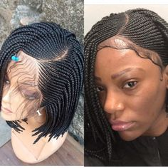 Excited to share this item from my shop: Braided Cornrow wig.Made to order. Natural looking wig for lovers of short realistic wig.You can also have it made in a different color . Small Box Braids, Short Box Braids, Blonde Box Braids, Black Girl Braids, Box Braid Wig, Braids Wig, Cornrows, Sisterlocks, Senegalese Braids