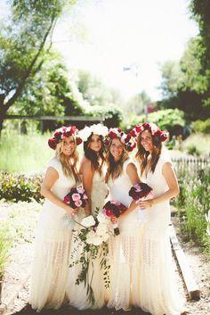 Boho Chic Bridesmaids' Gowns That Inspire | www.MadamPaloozaEmporium.com www.facebook.com/MadamPalooza