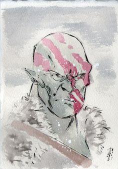 Ogre watercolour sketch