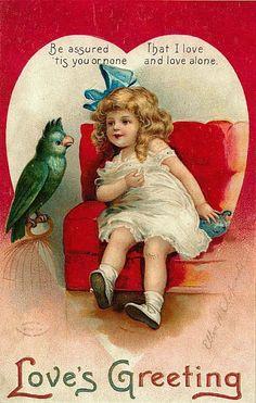 Alenquerensis: Postais Antigos de S. Valentim de Ellen Clapsaddle (1863 - 1934) - Ellen Clapsaddle (1863 - 1934) Vintage Valentine Postcards