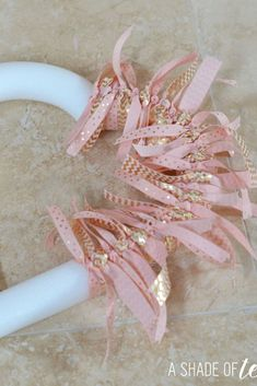 Make this pink & gold ribbon heart wreath. A Shade Of Teal Valentines Day Hearts, Valentine Day Love, Valentine Crafts, Baby Bouquet, Baby Changing Station, Welcome Baby Girls, Ikea Storage, Shades Of Teal, Valentine's Day Diy