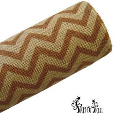"""Chevron Burlap Roll Color: Natural, Chocolate Brown Size: 20"""" in width; 10 yards in length (Jute or burlap rolls do have a burlap smell, nothing offensive, it's just burlap)"""
