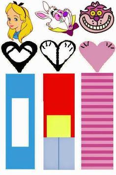Alice in Wonderland: Free Printable Original Nuggets Wrappers.