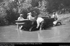 Crossing the Buffallo River prior to the building of the bridge...courtesy of Ozark Memories