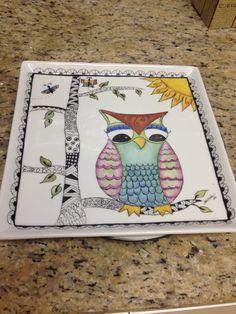 Coruja porcelana doodles