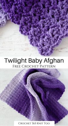 Baby Afghan Patterns, Baby Afghan Crochet, Baby Afghans, Crochet Blankets, Crochet Blanket Patterns, Crochet Stitches, Crochet Girls, Free Crochet, Ombre Yarn