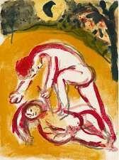 Marc Chagall-Caïn et Abel original Excimer Mourlot 238