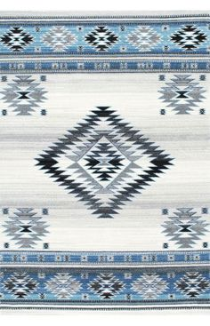 $5 Off when you share! Bosphorus BD09 Aqua Rug | Southwestern Rugs #RugsUSA