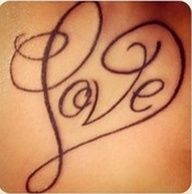 letter c with heart tattoo designs