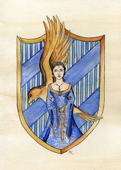 Moving onto my favourite house and founder (Ravenclaw pride!), the beautiful and wise Rowena Ravenclaw, referenced from the gorgeous Katie McGrath. Fanart Harry Potter, Harry Potter Diy, Harry Potter Memes, Ravenclaw, Hogwarts Founders, Hogwarts Crest, Hogwarts Houses, Hugs, Alice