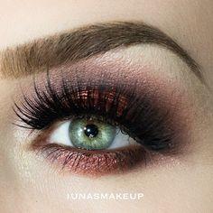 Bronze smoky eye makeup #eyes #eye #makeup #dark #bold #dramatic