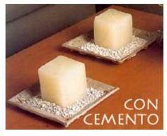 Cómo hacer un recipiente con cemento. En este artículo de enseñamos ha hacer unos recipientes con cemento. En ellos puedes utilizarlos por distintas cosas como para poner velas, las llaves, para decorar... Esto ya es a tu gusto. Puedes ha... Pasta Piedra, Diy Art, Margarita, Pillar Candles, Projects To Try, Holiday, Crafts, Biscuit, Concrete