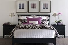 Part of the Modern lifestyle in the Ethan Allen collection. This would be a lovely guest bedroom (I'd love it for mine, too, but can't have a guy sleeping with so much purple).