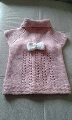 pink-baby-vest-model-baby-clothing-knitting-kids-knitting-needles/ - The world's most private search engine Baby Knitting Patterns, Baby Patterns, Sewing Patterns, Baby Pullover, Baby Cardigan, Easy Knitting, Knitting For Kids, Knitting Needles, Baby Outfits