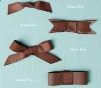 Tutorial on how to tie bows to put on any craft. I like it because I would use it on my cards. :)