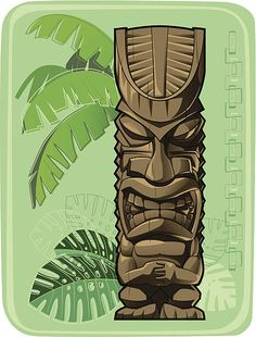 Tiki Totem, Hawaiian Tiki, Background Vintage, Free Vector Art, Colour Images, Feature Film, Photo Illustration, Image Now, Royalty Free Images