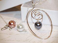 Interchangeable Sterling Silver Swirl Pendant Necklace by wirewrap, $32.00