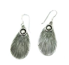 Sterling Silver Peacock Feathers Dangle Earrings by SilverShapes