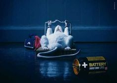 Креативная реклама - Энергетический напиток + Battery
