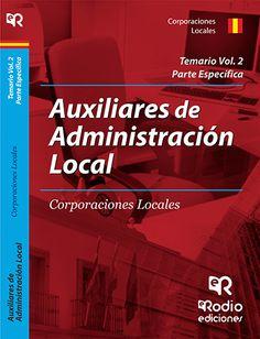 9788416266005 Auxiliares de Administración Local. Volumen 2. Parte Específica.  #empleo #oposiciones #formación