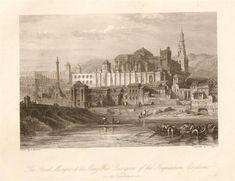 he Great Mosque & The Alcazar or Dungeon of the Inquisition, Cordova. Grabado de 1844 de un dibujo de David Roberts,