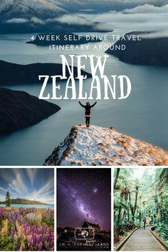 4 week self drive travel itinerary around New Zealand