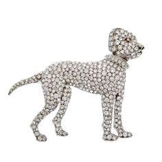 "1stdibs | Art Deco Diamond ""Boxer"" Dog Pendant"