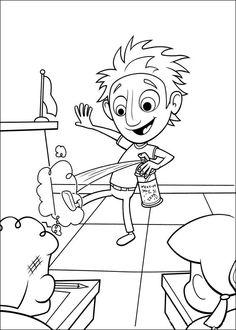 Disegni da colorare per bambini. Colorare e stampa Piovono polpette 31
