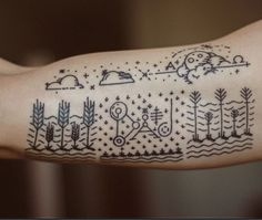 I Love the design of this tattoo. I would only get the clouds though