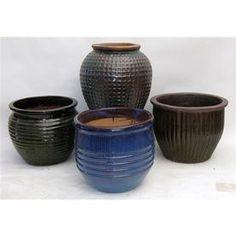 �18-in H x 11-in W x 11-in D Glazed Ceramic Indoor/Outdoor Pot