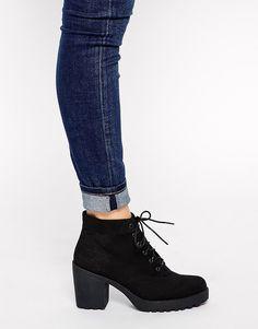 Vagabond Grace Black Textile Ankle Boots