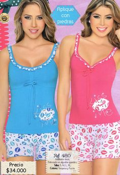 imagenes pijamas para mujer - Buscar con Google Sexy Pajamas, Cute Pajamas, Girls Summer Outfits, Girl Outfits, Cute Outfits, Cute Sleepwear, Lingerie Sleepwear, Pijamas Women, Cute Pajama Sets