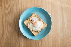 Bacon Egg Toast on iittala  #iittala #ricoh #gr #breakfast #bread #toast #egg #cafe