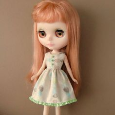 Summer Dress for Blythe by myfairdolly on Etsy, $12.00