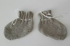 Patucos bebé algodón beige
