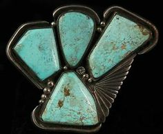 Navajo Sterling Silver & Slab Turquoise Women's Ring