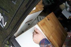 MOVOVAN mobile camper van furniture für Ford Transit Custom - Outdoor Küche zum einfachen rein- und rausnehmen
