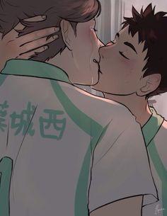 Iwaizumi Hajime and Oikawa Tooru   The Kiss   Haikyuu!!