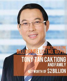 Billionaires in the Philippine Real Estate Industry: Tony Tan Caktiong