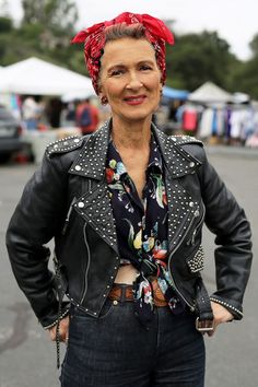 Mara West at The Rose Bowl Flea Market | ADVANCED STYLE | Bloglovin'
